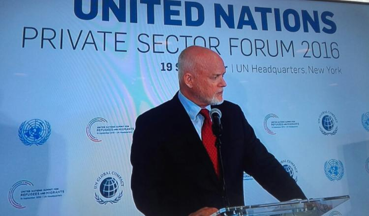 Presidente del 71 º periodo de sesiones de la Asamblea General, Peter Thomson