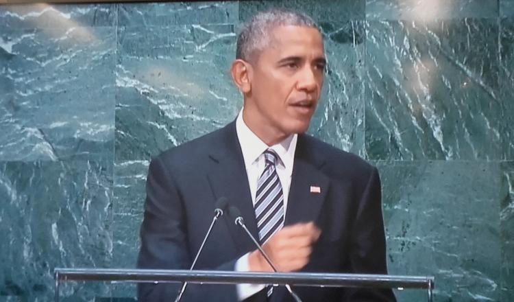 Presidente Obama durante el debate de la Asamblea General