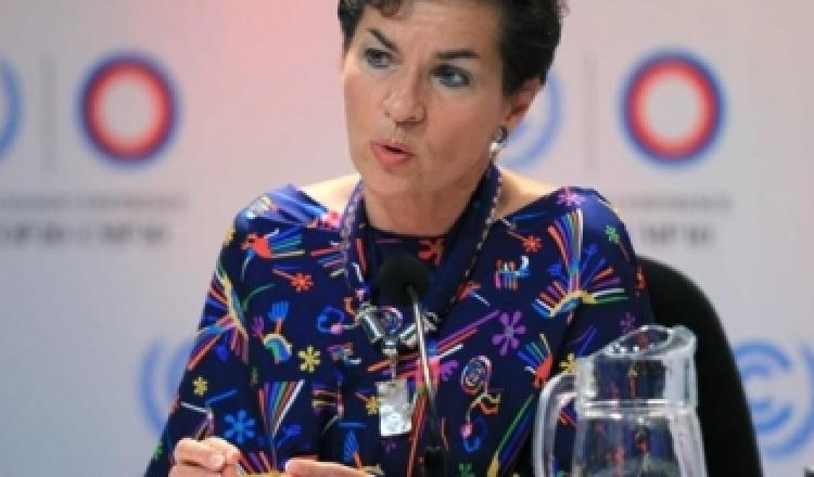 Christiana Figueres, Secretaria ejecutiva de la Convención de Cambio Climático de la ONU.
