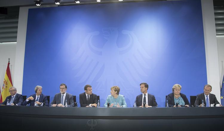 Angela Merkel anticipa que cambio climático será un eje importante del debate.