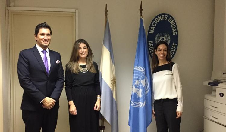Guillermo Correa (RACI), Mariana Giacumbo (CV Fibertel) y Tamar Hahn (ONU Argentina)