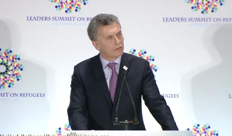 Presidente Macri durante la Cumbre de líderes de Obama