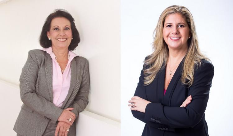 (Izq) Ana Milena Lemos, vicepresidenta Junta Directiva, (Der)Martha Herrera, presidenta Junta Directiva