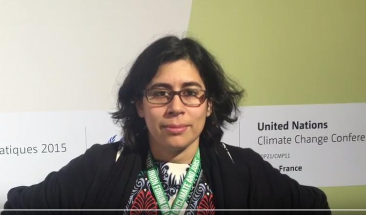 Anabella Rosemberg, Vocera de Cambio Climático de la Confederación Sindical Internacional